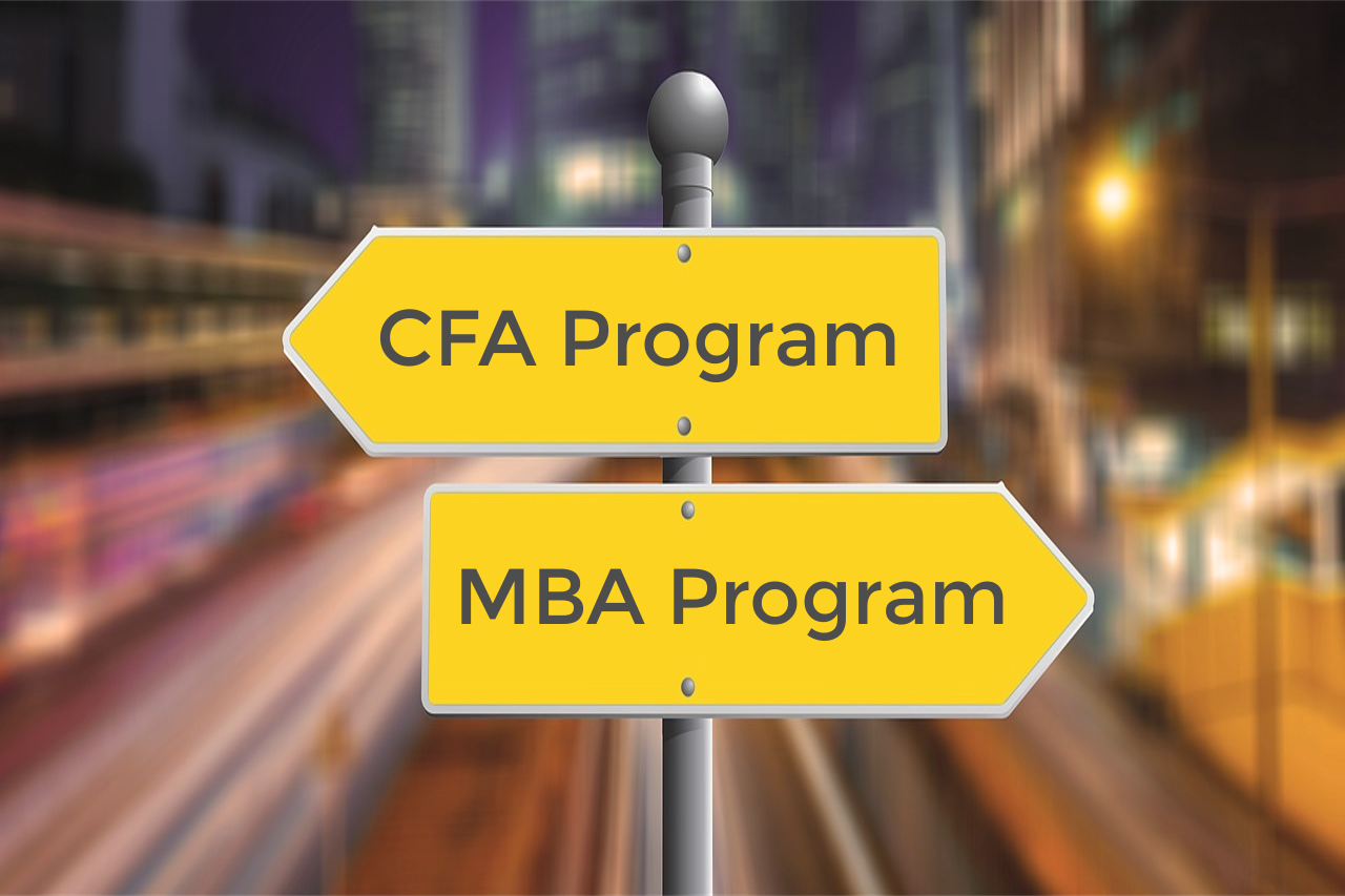 Choosing between #CFA vs #MBA